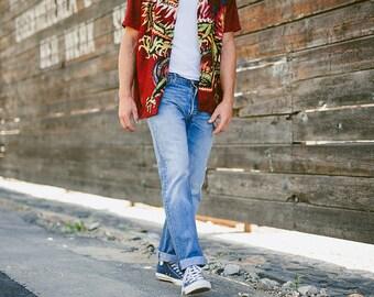 MensLevis 501 XX Jeans . Vintage 90s Dad Jeans Denim Pants Straight Leg Jeans Mens Jeans Minimalist Jeans . size W33 L32