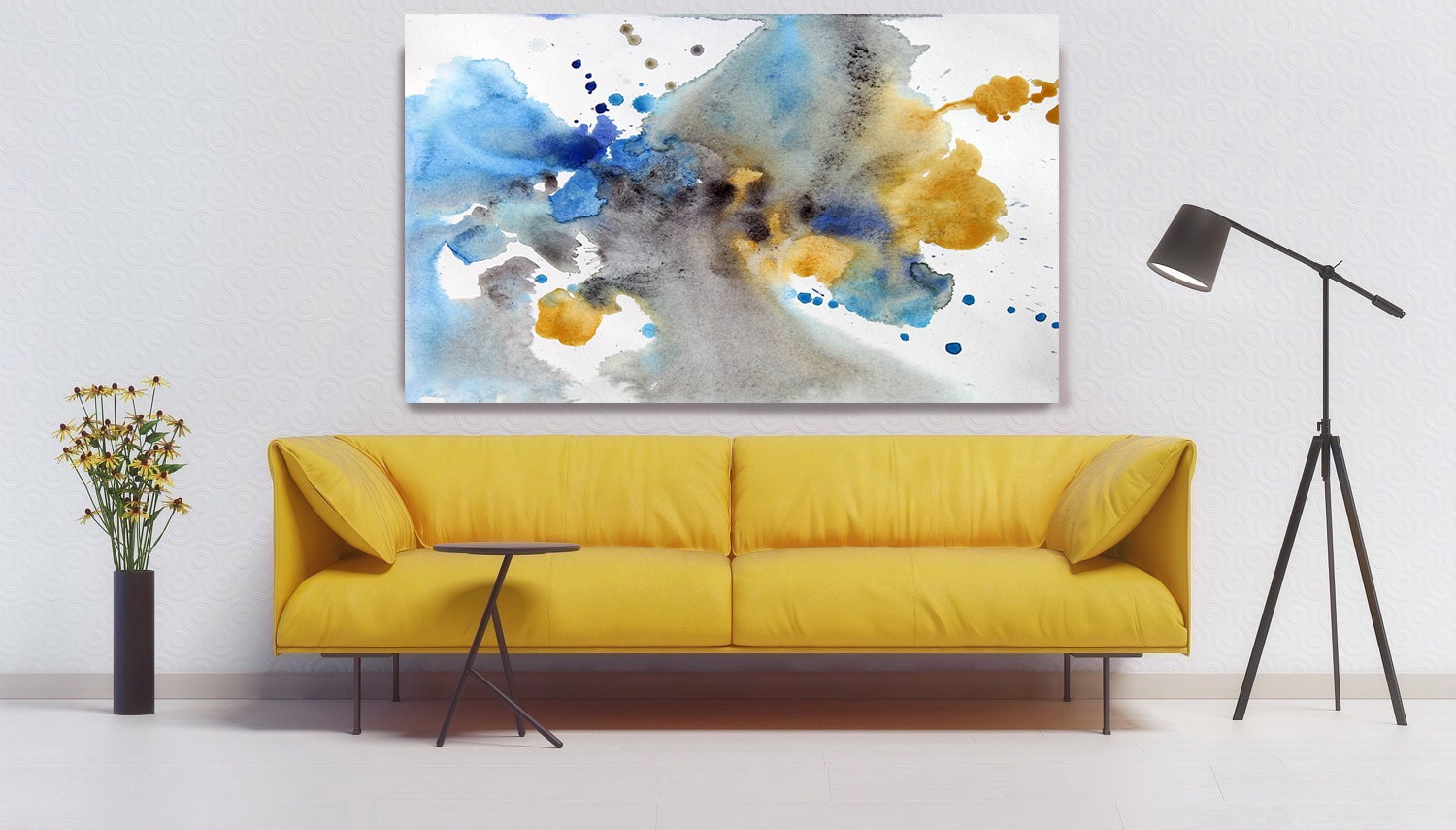 ORL-7965 Awakening. Watercolor Abstract, Modern Wall Decor, Large ...