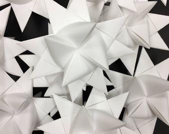 13 Medium White German Paper Stars Quick Order Ready to Ship Moravian Stars Star Ornaments