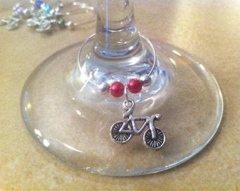 Cyclist Wine Charms