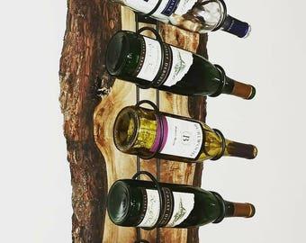 Walnut Live Edge Wine Rack