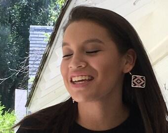 Indigenous Native American Style Loom Beaded Earrings