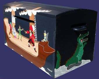 Toy chest, wooden Pirate/pirate customize children's room