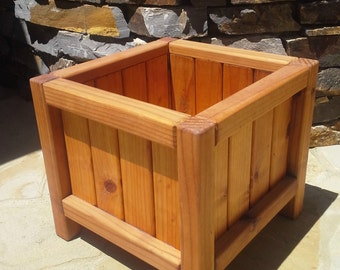 Beautiful Solid Redwood Planter Boxes