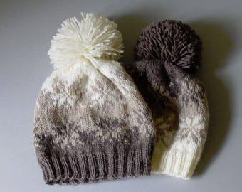 Fair Isle Handknit Wool Hat