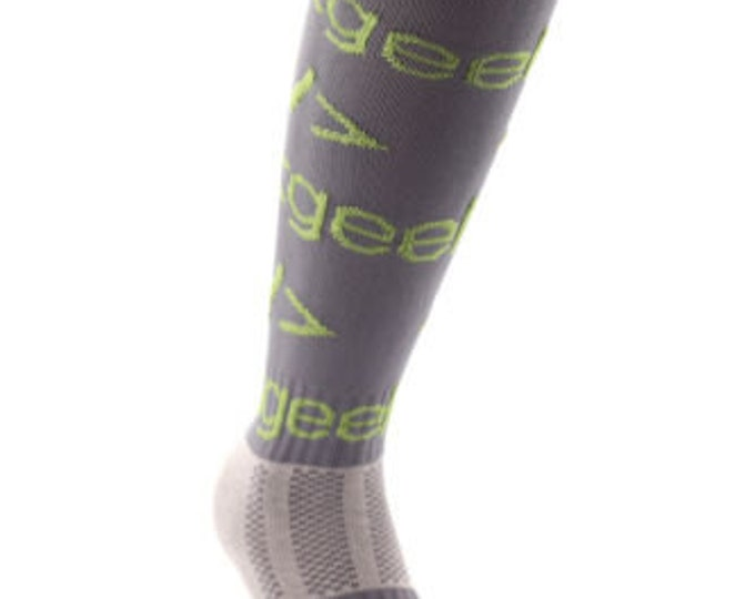 Samson® Grey Geek Funky Socks Sport Knee High Sport Football Rugby Soccer