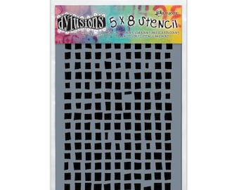 """Ranger Dyan Reaveley's Dylusions Stencils - Squares Small 5""""X8"""" #DYS45502"""