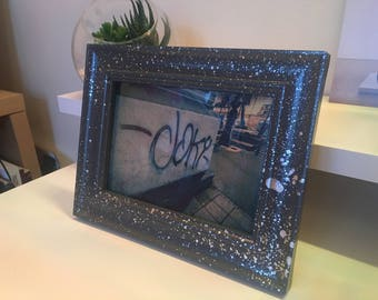 Framed Chrome Spray painted print