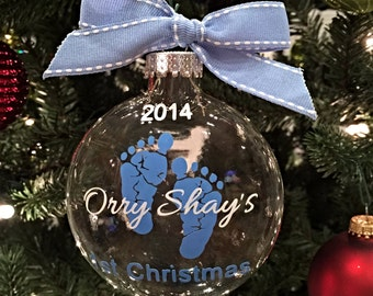 Baby's First Christmas Ornament - Girl or Boy