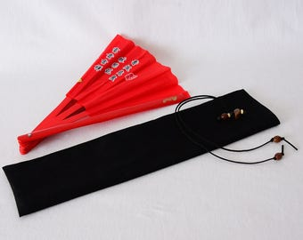 Bestprice, fan bag, hand fan, Taichi, KungFu, handmade, unique, wooden beads