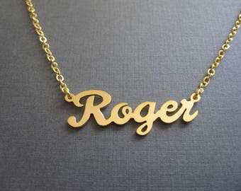 Personalized Gold Name Necklace- Custom Name Necklace - Name Jewelry - Baby Name - Bridesmaid Jewelry - Bridesmaid Gift - Custom Name Gifts