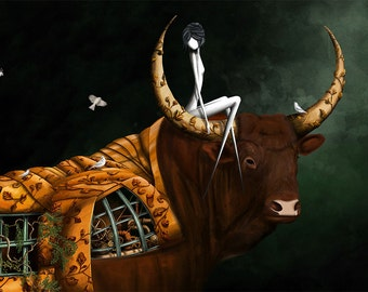 The Taurus- 11x8 or 16,5x11 inches fine art print- Signed - Printed by a professional