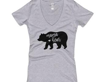 Mama Bear Shirt | Momma Bear V Neck Shirt | Gift for Mom