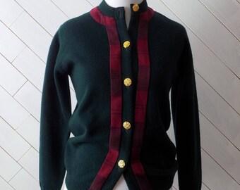 Walk in the Woods   Vintage 1970s Lambswool Cardigan Sweater   S