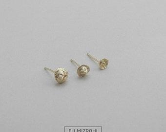 Three earrings, Threesome earrings, stud earrings, gold earrings, oxidized silver, perfect gift for her, daily earrings