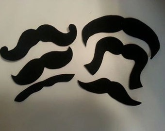 MOVEMBER 20 Pack Adhesive Felt Mustaches (ADULT SIZE), Adhesive Mustaches, Moustache, Adhesive Moustache, Moustache, Mustache Party Favors