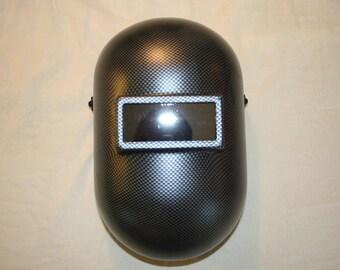 "Custom Honeywell Fibre-Metal 110PWE Pipeliner Welding Helmet/CARBON FIBER""PRINT"""