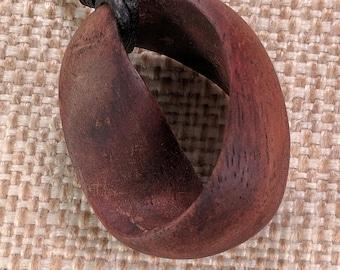 Mobius Pendant - Black Walnut