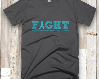 Fight [YOUR ILLNESS/COLOR] Sketch Adult Shirt