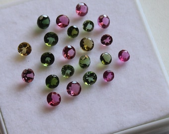 1.75 mm Round Multi-Color Tourmaline Faceted AAA Quality-Top Quality Tourmaline