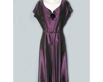 Vintage 1940's Purple Iridescent Taffeta Jacket and Dress