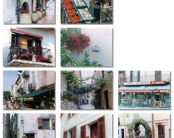 La Turbie, France Picture Notecards boxed set of 10 different cards with envelopes - blank inside