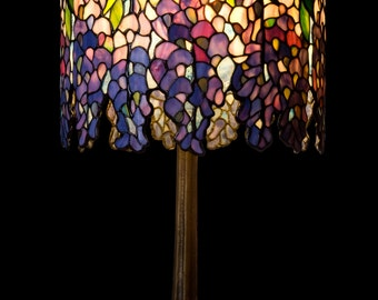 Bedside Lamps, Pony Wisteria, Tiffany Lamp, Standing Lamp, Desk Lamp, Table Lamp, Nightstand Decor, Stained Glass Art, Shade