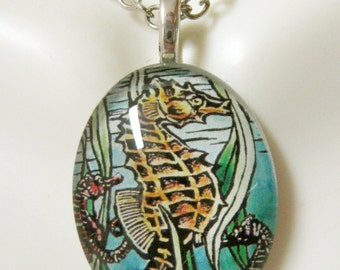 Seahorse pendant and chain - SGP12-010