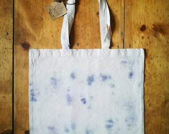 Eco dyed zero waste natural dye tote handbag shopping bag