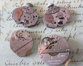 Featured - Steampunk supplies - Watch movements - Vintage Antique Watch movements Steampunk - Scrapbooking b20