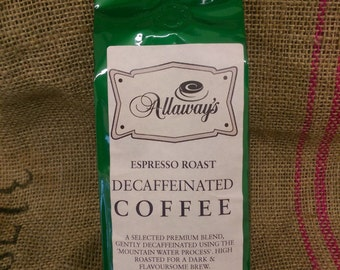 Decaf Espresso Coffee Beans - mountain water processed 250g
