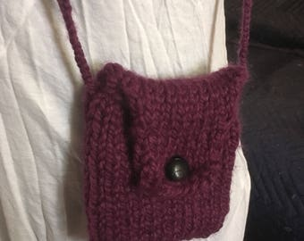 Small knitted purse