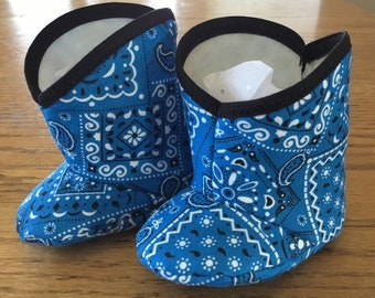 Infant baby medium blue cowboy boots