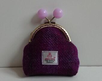 Harris Tweed Coin Purse (Purple)