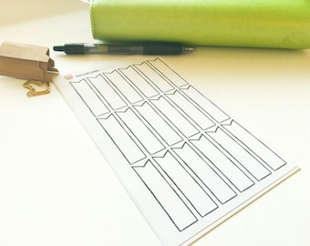 Banner/Flag Stickers for Planner or Journal (hand-drawn)