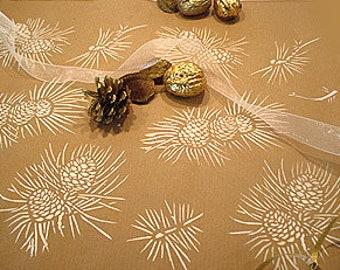 Pine Cones Stencil ©