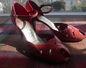 SALE 50% off Coral leather heels sandals Hispanitas uk 7 , eu 40 worn once