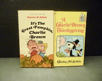 It's the Great Pumpkin Charlie Brown & A Charlie Brown Thanksgiving books- 1st printings