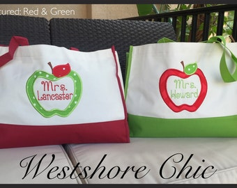 Personalized Teacher Gift Snap Tote