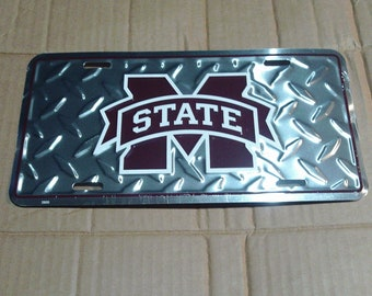 Mississippi State Bulldogs License Plate