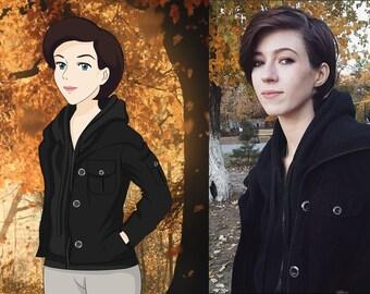 Ghibli portrait -  Anime portrait, Custom Portrait, Family Portrait, Family Drawing, Cartoon portrait, Caricature portrait, Gift
