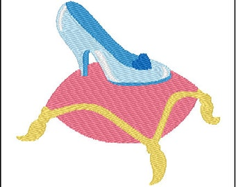 Cinderella Glass Slipper Embroidery Design