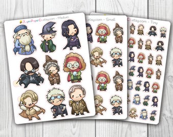 Wizards & Witches 3 Character Stickers