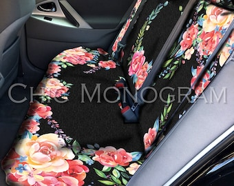 Classy Black Floral Car Seat Cover Back Seat Car Cover Back Seat Cover For Car Accessories Seat Covers For Car For Vehicle Seat Protectors