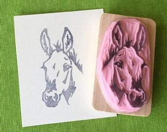 Ref. 116 Mule portrait rubber stamp / Tampon portrait de mule