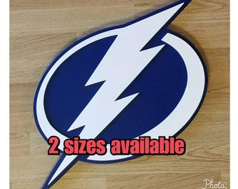 Tampa Bay Lightning  2 sizes available, multi layered wooden wall display