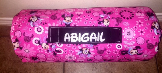 Personalized Preschool Kinder Nap Mat In Disney Minnie Mouse