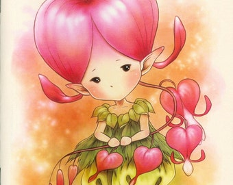 Aurora Wings Sprites Half-Size Mini Coloring Book - Garden Sprites - 12 Easy Whimsical Images for All Ages - Art by Mitzi Sato-Wiuff