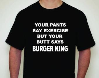 Joke shirt- Exercise Joke shirt-Novelty T-shirt