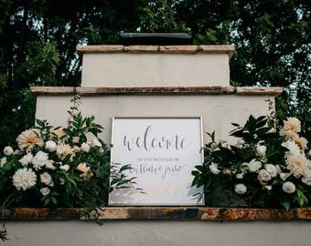 Ceremony / Reception Welcome Sign